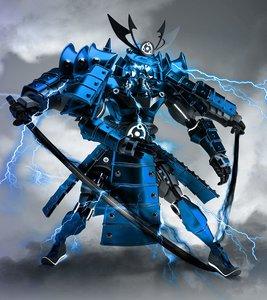 ninja samurai robot 3D model