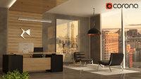 luxury minimalism office 3D