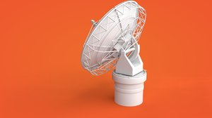 3D satellite dish antenna model