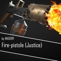 3D flamethrower fire-pistole justice