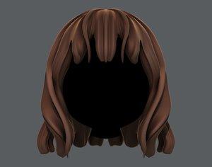 girl hair 3D