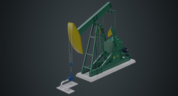 3D oil pumpjack 1a model