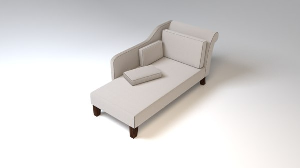 3D model fabric couch