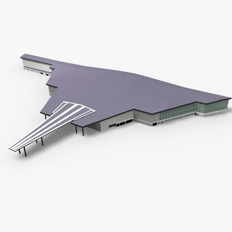brest bretagne airport 3D model