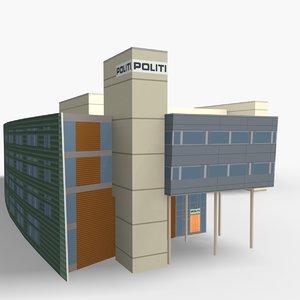 central police station norway 3D model