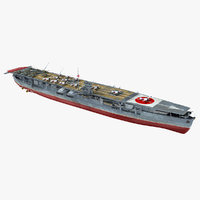 3D japanese aircraft carrier soryu model