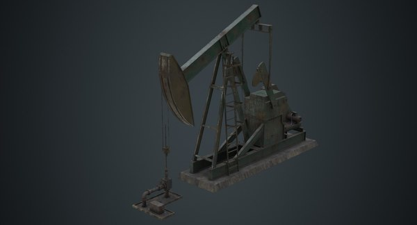3D oil pumpjack 1b
