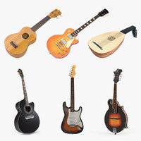 Stringed Instruments 3D Models Collection