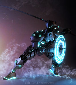 ninja robot 3D model