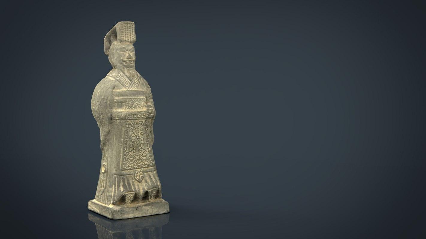 3D model terracotta warriors emperor qin