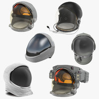 Space Helmets 3D Models Collection