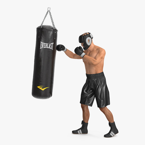 punching bag boxer rigged 3D model