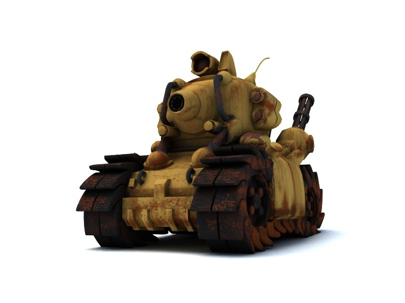 3D rusted tank