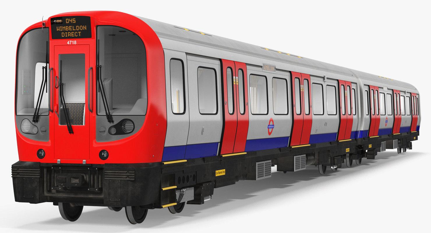 3D london subway train s8 model