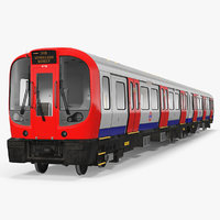 3D london subway train s8 model