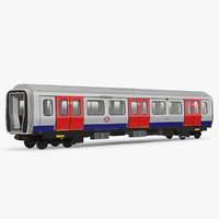 london subway s8 wagon 3D model