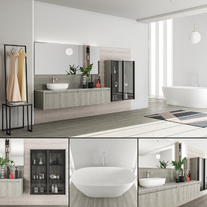 3D bathroom furniture set rush model