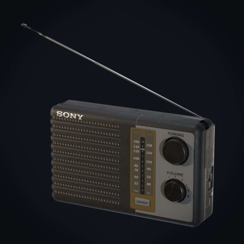 analog radio sony 3D model