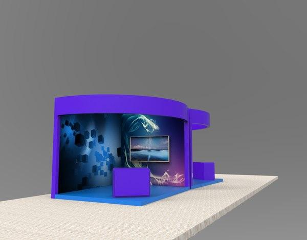 budget stall designs 3D