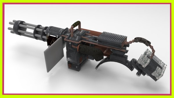 minigun gun weapon 3D model