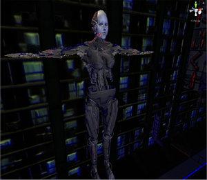 female robot 3D