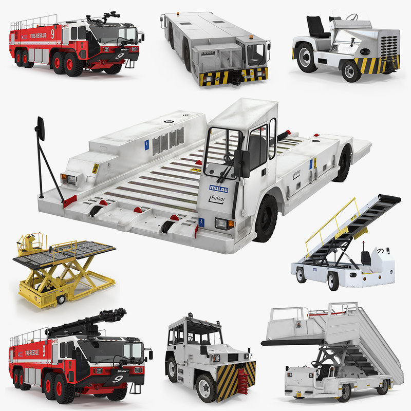 3D airport vehicles 2