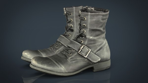3D model leather boots