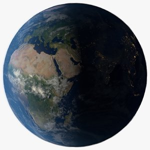 photorealistic planet earth 3D model