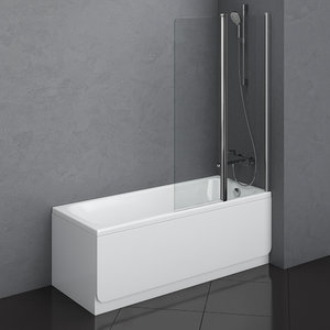 3D bath ravak chrome