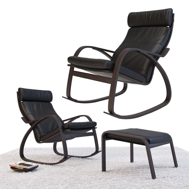 3D ikea poeng chair model