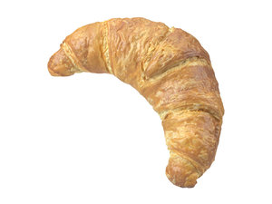 photorealistic scanned croissant 3D model