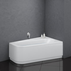 bath ravak chrome asymmetric model