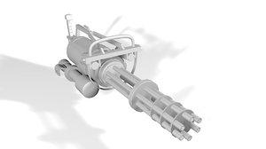 3D minigun weapon