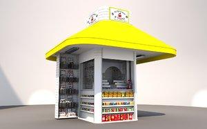 greek modern kiosk 3D model