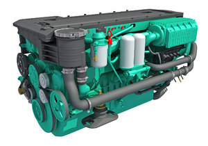 3D boat engine model