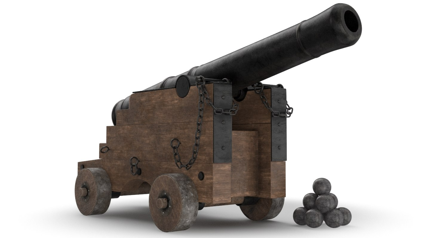 ready vessel cannon 3D