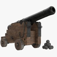 ready vessel cannon 3D