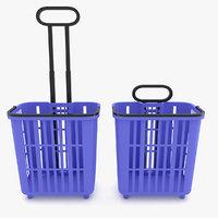 Supermarket - Shopping Basket With Wheels