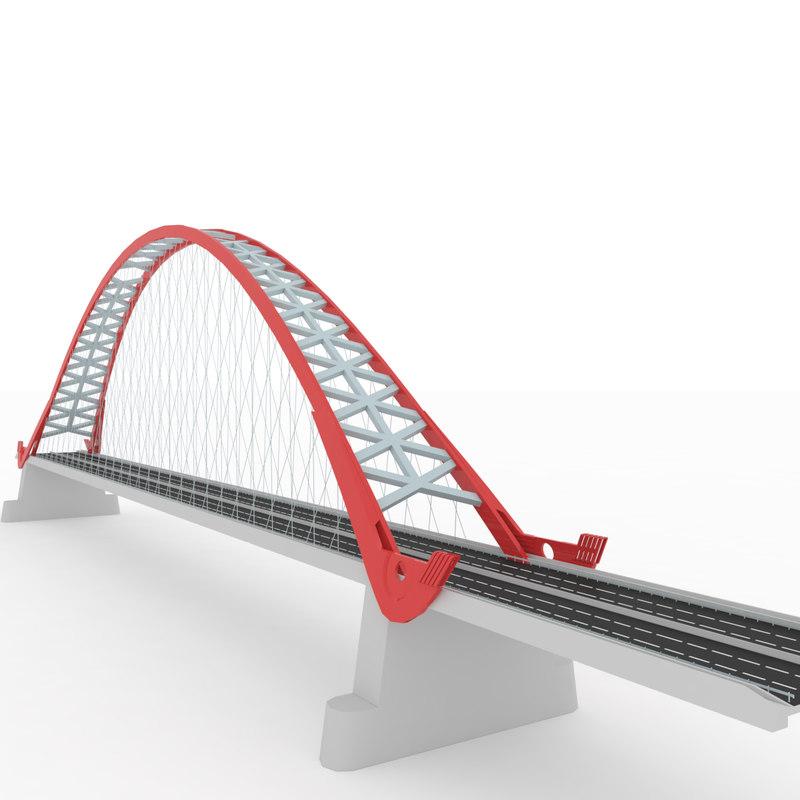 bugrinsky bridge 3D model