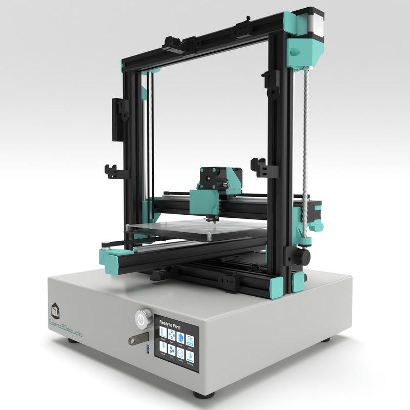 printer animation 3D