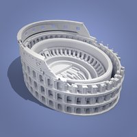 colosseum landmarks 3D model