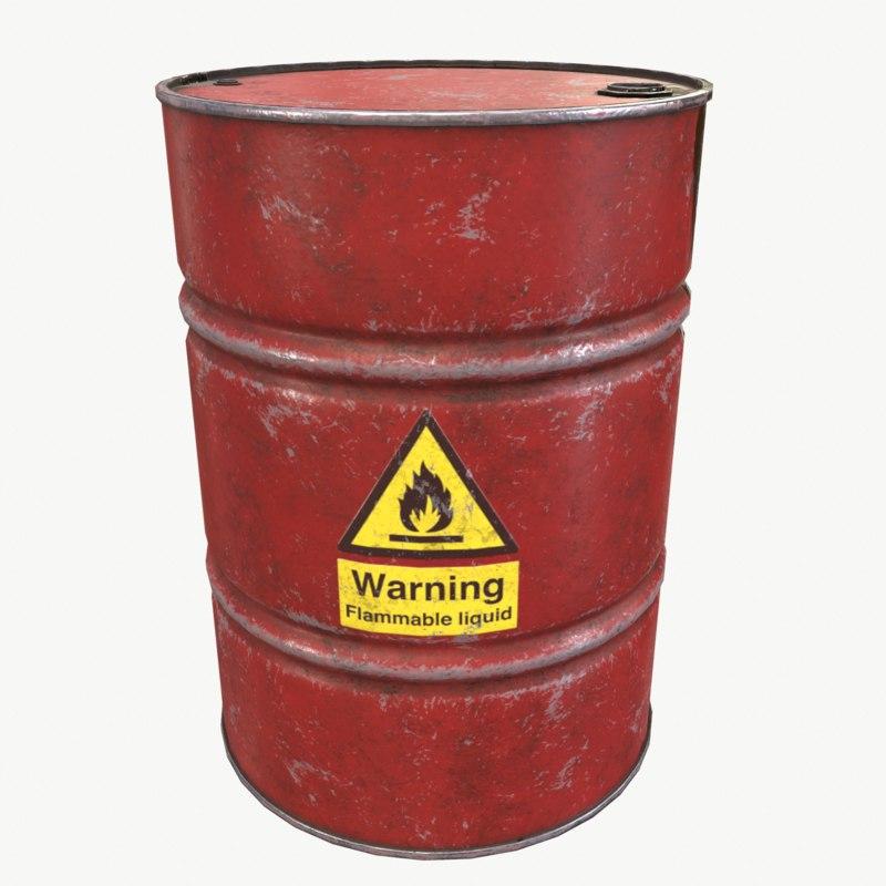 barrel drum 3D
