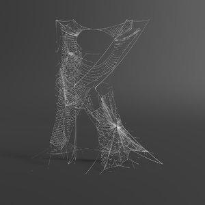 3D web letter k
