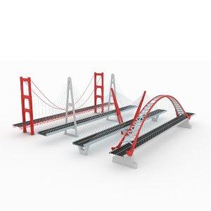 3D suspended bridge pack