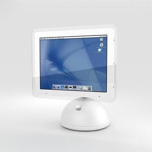 3D apple imac g4 model