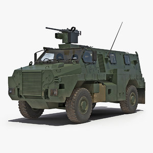 3D protected infantry vehicle bushmaster model