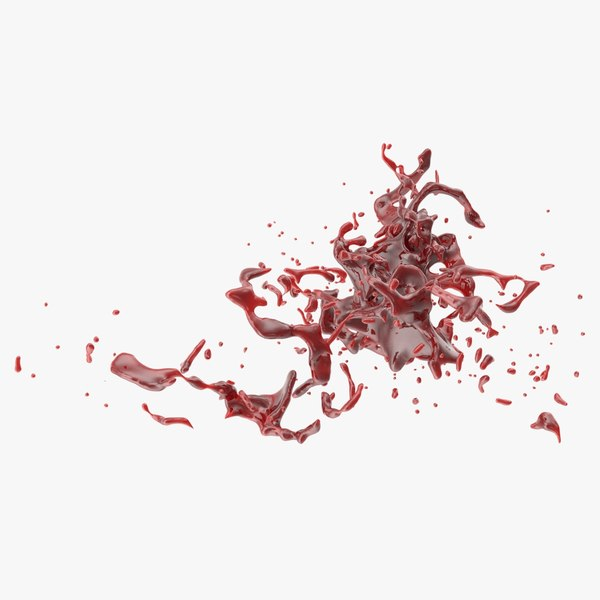3D blood splash model