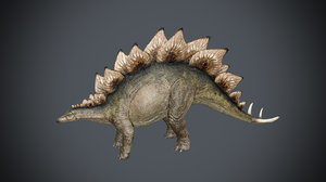 3D model stegosaurus animation rigging