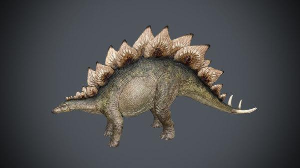 3D model stegosaurus animation rigging