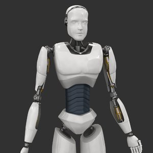 3D robot rigged character